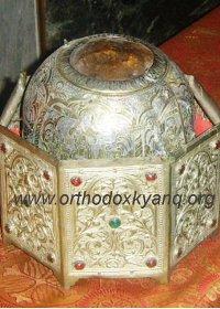 Սբ. Գրիգոր Լուսավորչի գլուխը Աթոսի Մեծ Լավրա վանքում